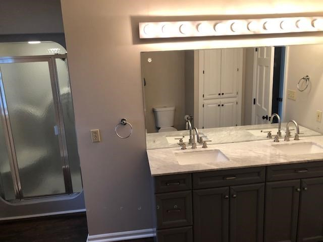 Master Vanity and Shower